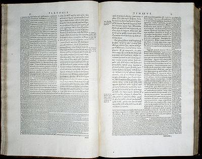 strona z Timaiosa z wydania Stephanusa